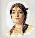 Duveneck Frank Head of an Oriental Woman