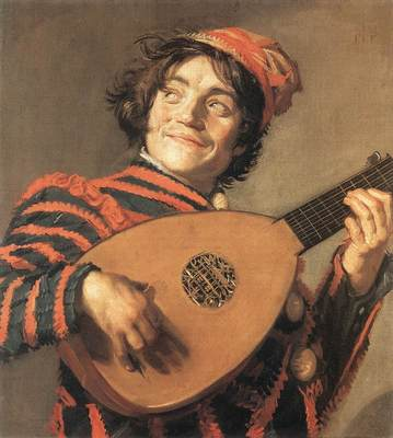 Buffoon Playing a Lute WGA