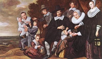hals frans family group in a landscape