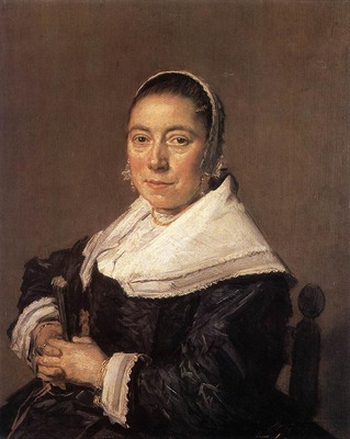 HALS Frans Portrait Of A Seated Woman Presumedly Maria Veratti