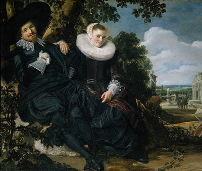 Hals Frans Marriage Portrait of Isaac Massa en Beatrix van der Laen