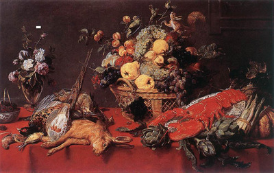 SNYDERS Frans Still Life With A Basket Of Fruit