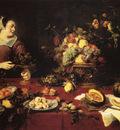 Snyders Frans The Basket Of Fruit