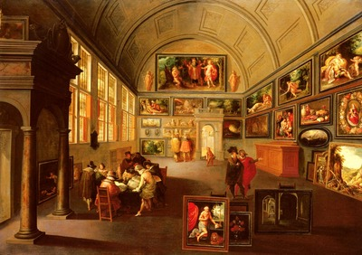 Francken Frans The Interior Of A Picture Gallery
