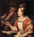 MIERIS Frans van the Elder The Music Lesson