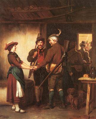 Defregger Franz Von Abschied Der Jager