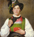 Defregger Franz von A YOUNG MAN IN TYROLEAN COSTUME