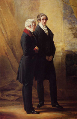 Winterhalter Franz Xavier Arthur Wellesley 1st Duke of Wellington with Sir Robert Peel