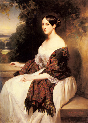 Winterhalter Franz Xavier Portrait Of Madame Ackerman