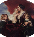Winterhalter Franz Xavier Elzbieta Branicka Countess Krasinka and her Children