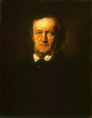 Lenbach Franz von Portrait of Richard Wagner