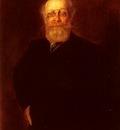 Lenbach Franz Von Portrait Of A Bearded Gentleman Wearing A Pince%20Nez