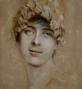 Lenbach Franz von Portrait of a young woman