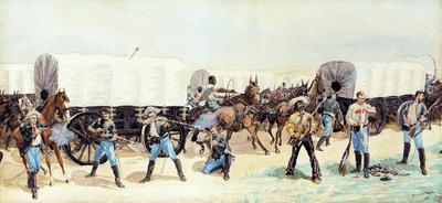 Remington Frederic Attack on the Supply Train