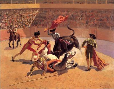 Remington Frederic Bull Fight in Mexico