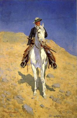 Remington Frederic Self Portrait on a Horse