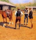 Remington Frederic Buying Polo Ponies in the West