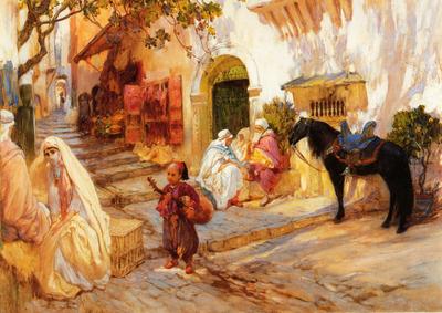 Bridgeman Frederick Arthur A Street in Algeria