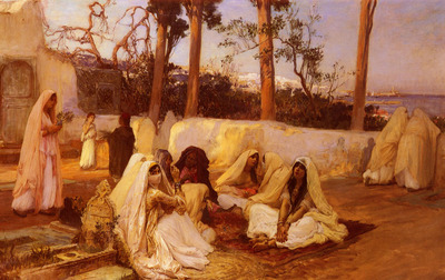 Bridgman Frederick Arthur Women At The Cemetery, Algiers