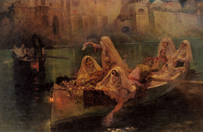 Bridgman Fredick Arthur The Harem Boats