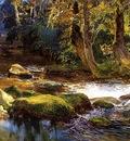 Bridgeman Frederick Arthur River Landscape with Deer