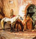 Bridgeman Frederick Arthur Scene in Morocco
