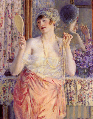 Frieseke Frederick C Woman Before A Mirror