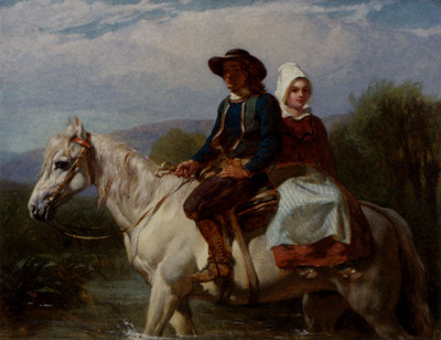 Goodall Frederick Fording The Stream