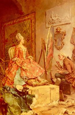 Kaemmerer Frederick Hendrik Sitting For Her Portrait