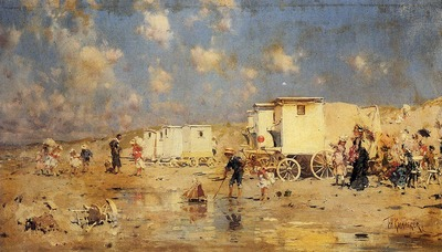 Kaemmerer Frederick Hendrik The Beach At Scheveningen Holland