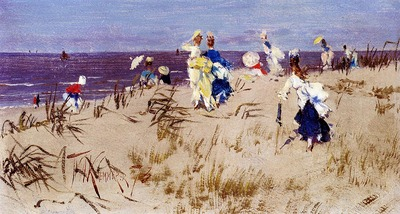 Kaemmerer Frederik Hendrik Elegant Women On The Beach