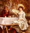 Kaemmerer Frederick Hendrik Tea In The Garden, Autumn