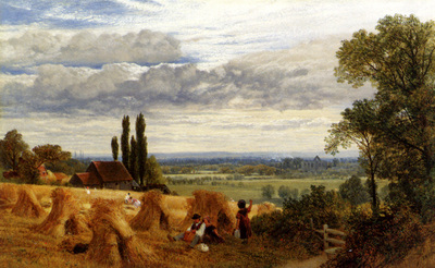 Hulme Frederick William Harvesting Near Newark Priory Ripley Surrey