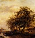 Kruseman Frederick Marianus Figures In A Summer Landscape