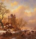 Kruseman Frederick Marianus Skating In The Midst Of Winter