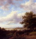 Kruseman Fredrik Marinus A Blustery Summer Landscape