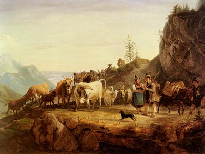 Gauermann Friedrich Almabtrieb