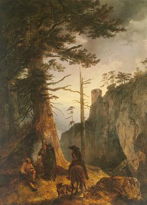 Gauermann Friedrich Jager Vor Einer