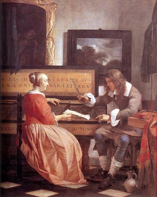 METSU Gabriel Man And Woman Sitting At The Virginal
