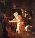 METSU Gabriel The Letter Writer Surprised