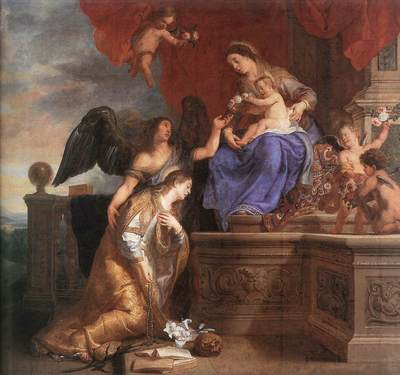 CRAYER Gaspard de The Coronation Of St Rosalie