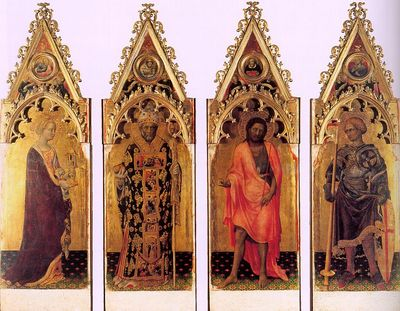 GENTILE DA FABRIANO Four Saints Of The Poliptych Quaratesi