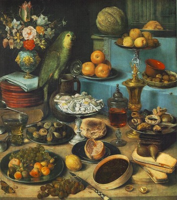 FLEGEL Georg Still Life With Parrot