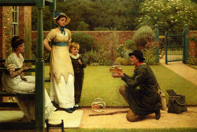Leslie George Dunlop The Goldfish Seller