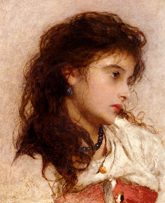 Hicks George Edgar A Gypsy Girl