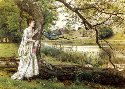 Kilburne George Goodwin On The River bank