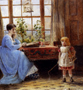 Kilburne George Goodwin A Mother And Child In An Interior