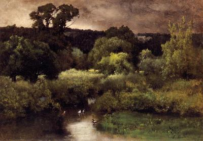 Inness George A Gray Lowery Day
