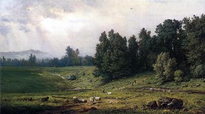 Inness George Landscape with Sheep