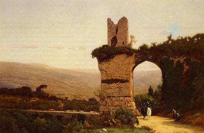 Inness George The Commencement of the Galleria aka Rome the Appian Way